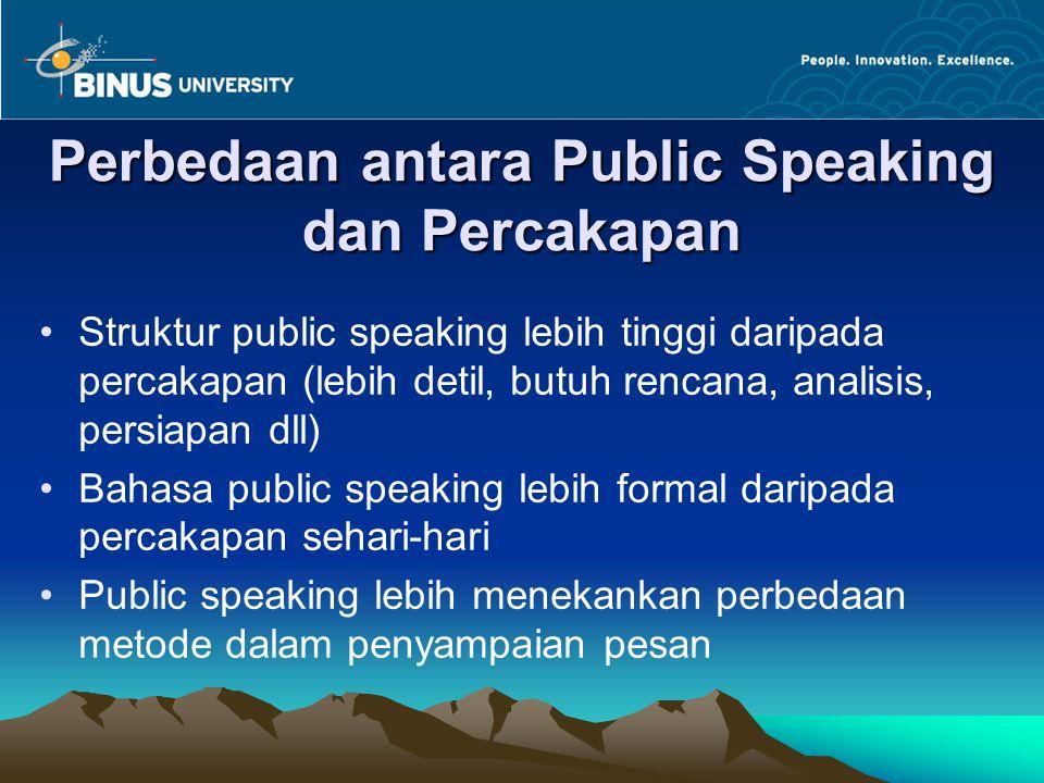 Perbedaan antara Public Speaking dan Percakapan
