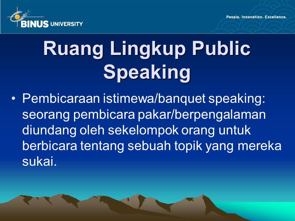 Ruang Lingkup Public Speaking