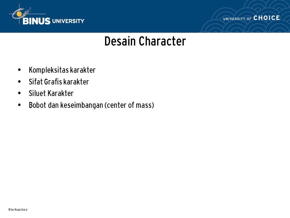 Desain Character Kompleksitas karakter Sifat Grafis karakter
