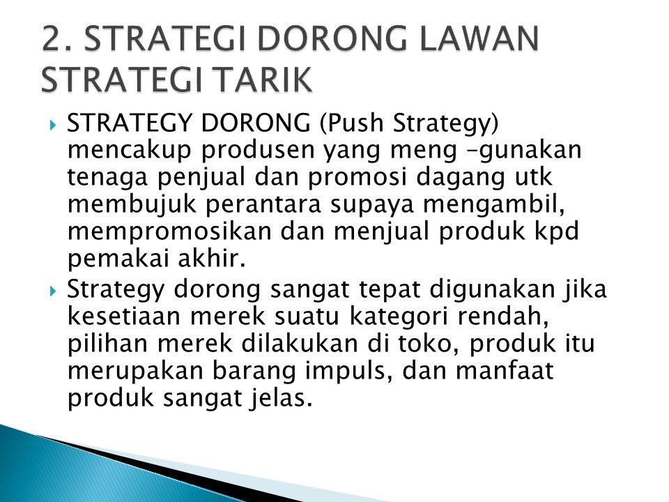 2. STRATEGI DORONG LAWAN STRATEGI TARIK
