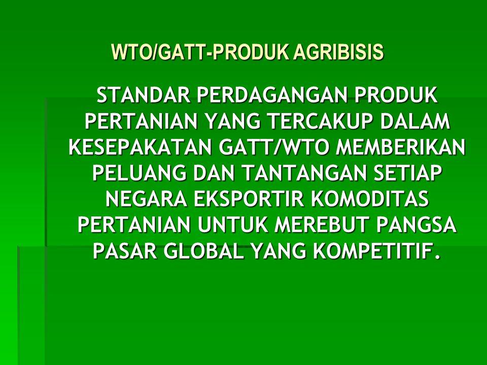 WTO/GATT-PRODUK AGRIBISIS