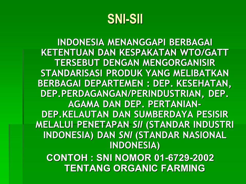 CONTOH : SNI NOMOR 01-6729-2002 TENTANG ORGANIC FARMING