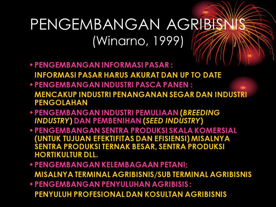 PENGEMBANGAN AGRIBISNIS (Winarno, 1999)