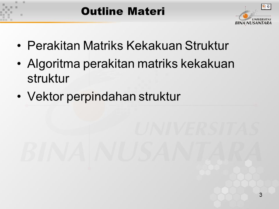 Perakitan Matriks Kekakuan Struktur