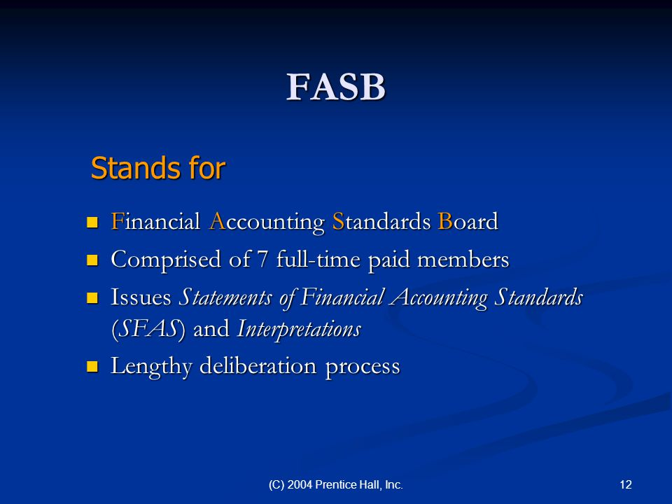 FASB Stands for Financial Accounting Standards Board