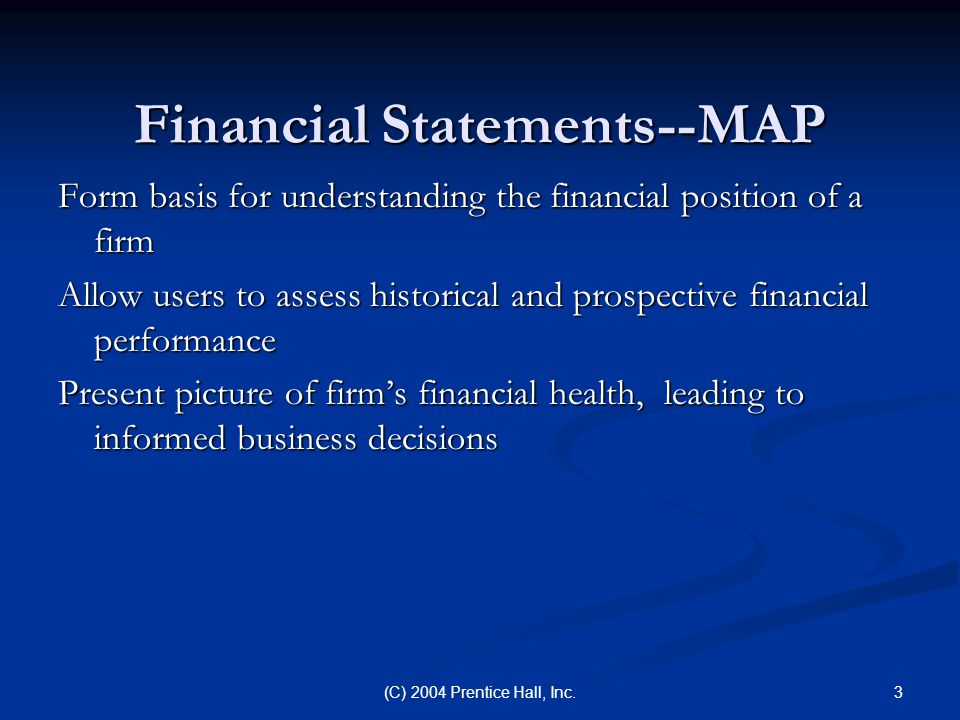 Financial Statements--MAP