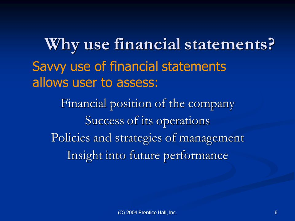 Why use financial statements