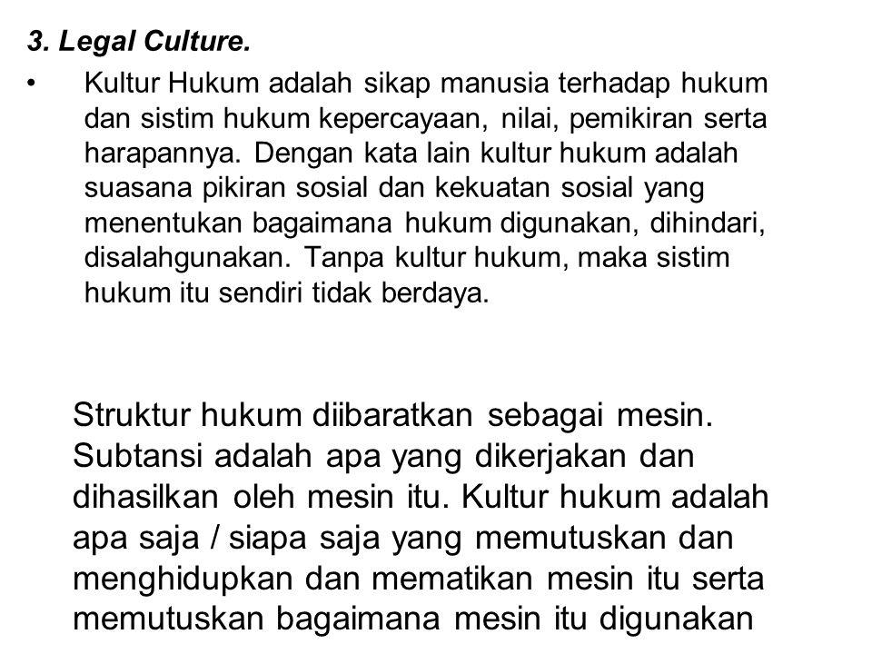 3. Legal Culture.