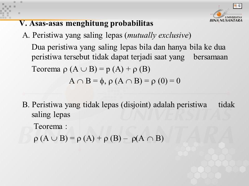 V. Asas-asas menghitung probabilitas