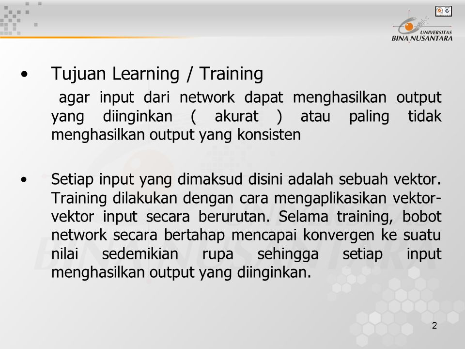 Tujuan Learning / Training