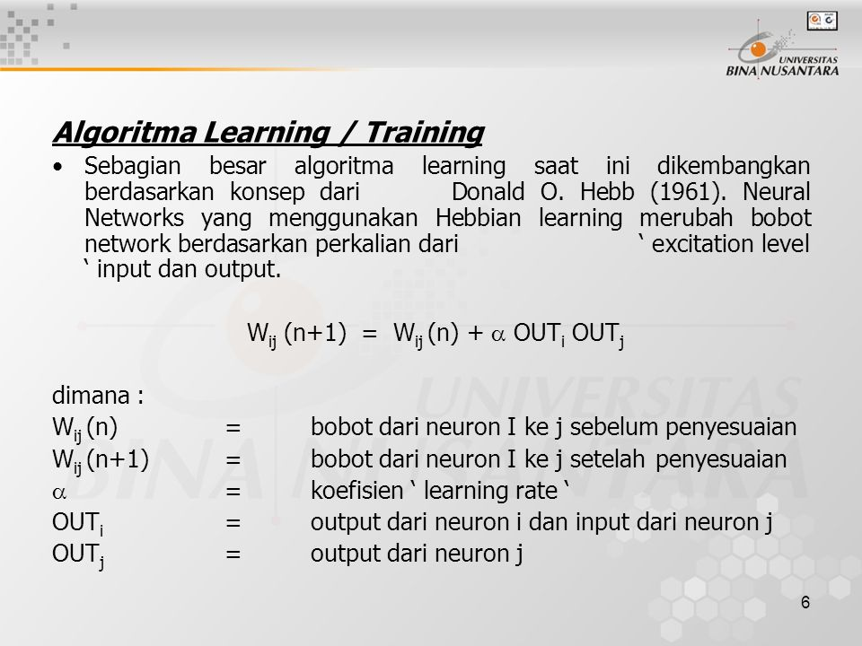Algoritma Learning / Training