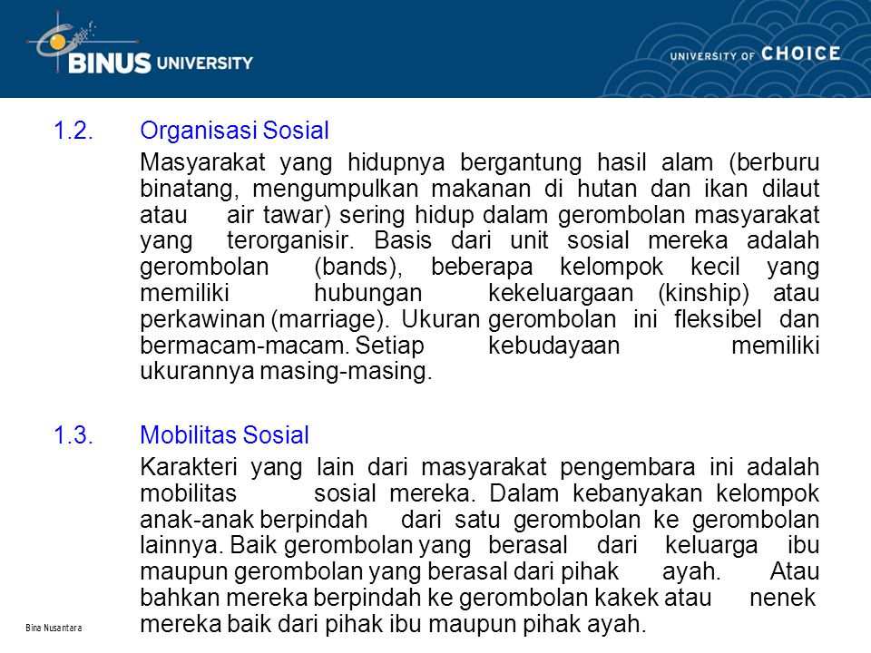 1.2. Organisasi Sosial