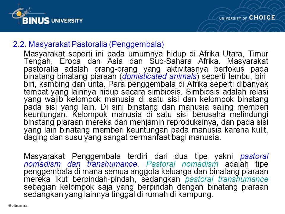 2.2. Masyarakat Pastoralia (Penggembala)