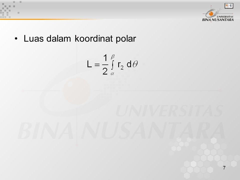 Luas dalam koordinat polar