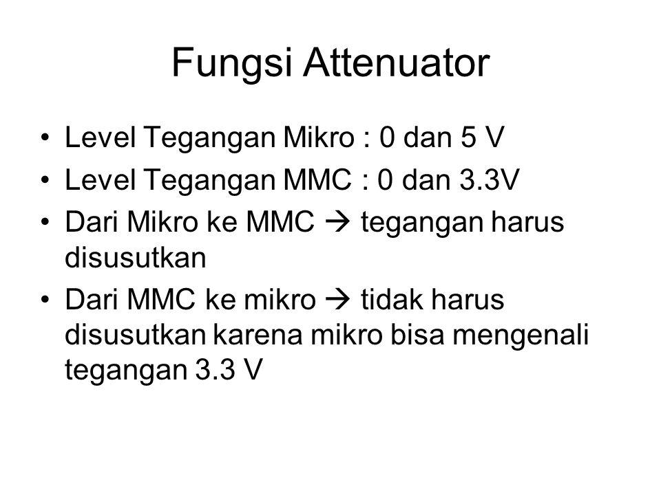 Fungsi Attenuator Level Tegangan Mikro : 0 dan 5 V