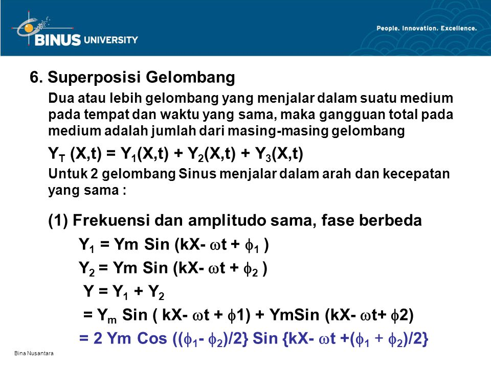 6. Superposisi Gelombang