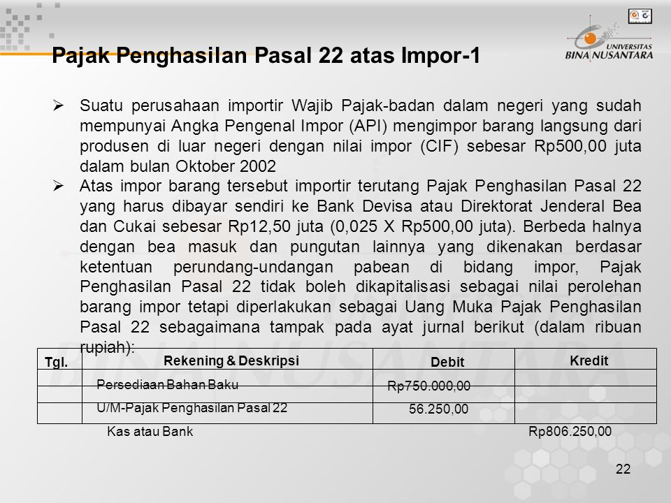 Pajak Penghasilan Pasal 22 atas Impor-1
