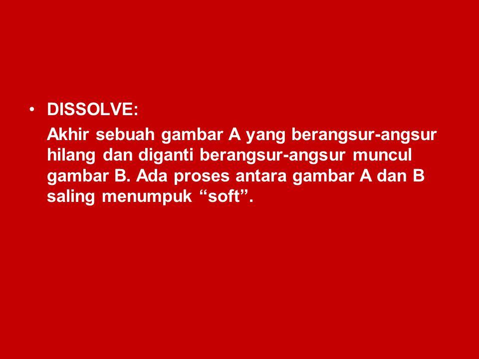 DISSOLVE: