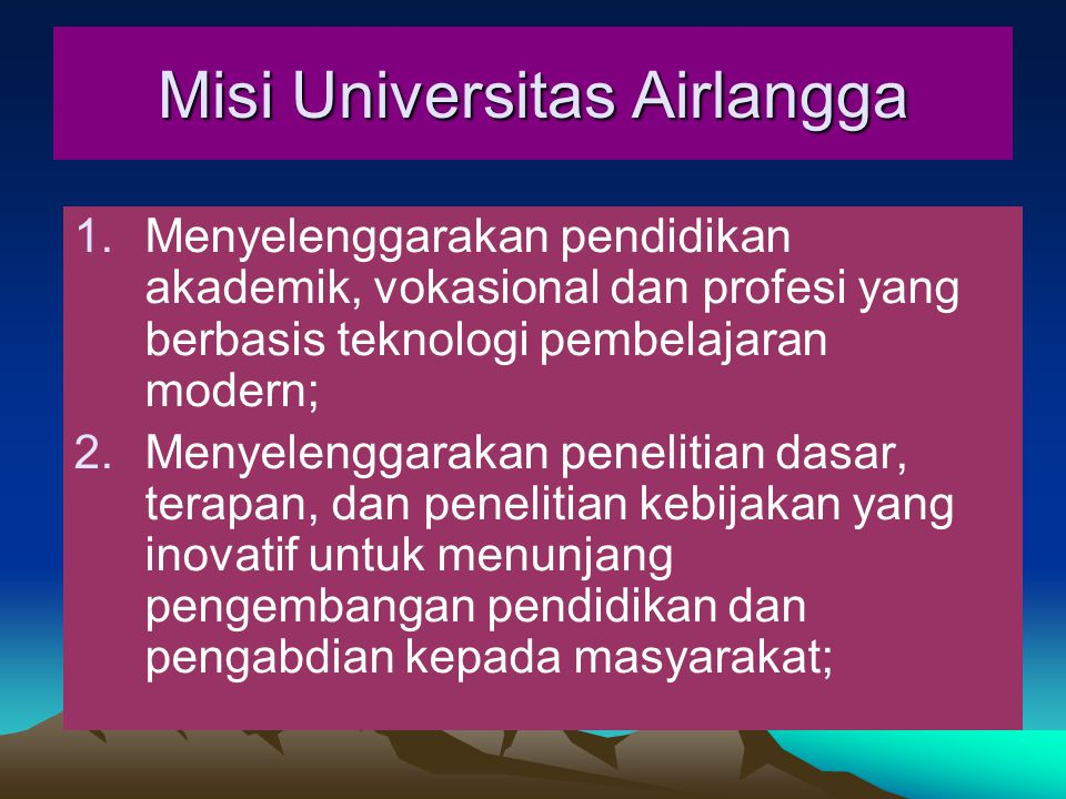 Misi Universitas Airlangga