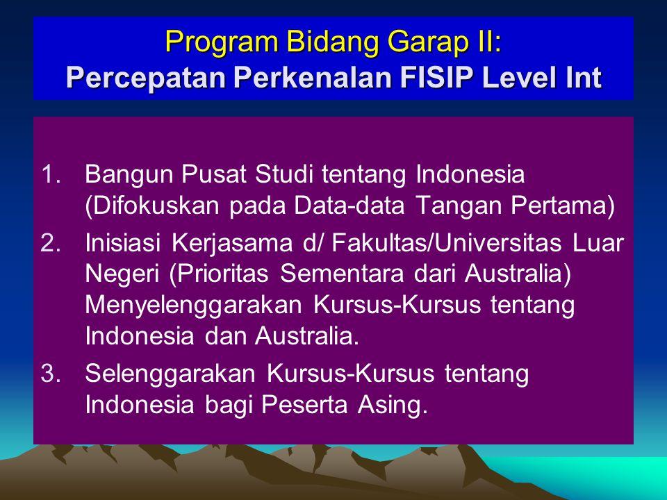 Program Bidang Garap II: Percepatan Perkenalan FISIP Level Int