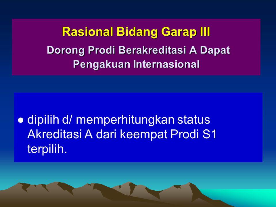Rasional Bidang Garap III Dorong Prodi Berakreditasi A Dapat Pengakuan Internasional