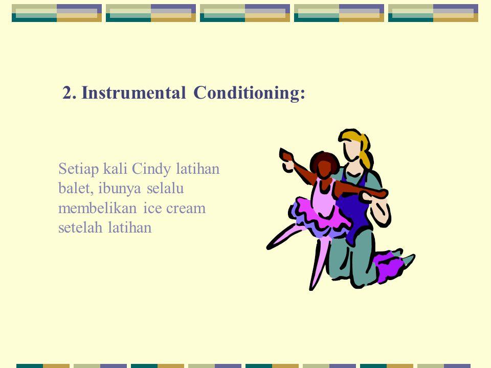 2. Instrumental Conditioning: