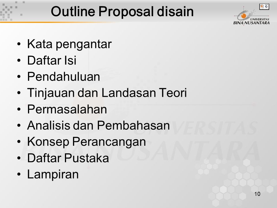 Outline Proposal disain
