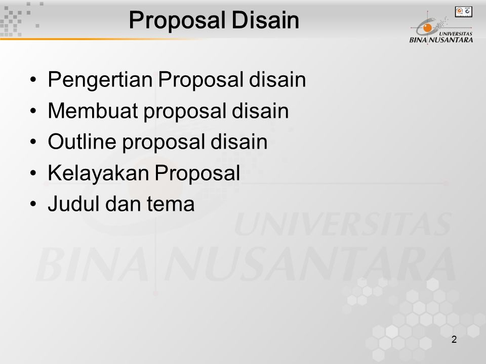 Proposal Disain Pengertian Proposal disain Membuat proposal disain