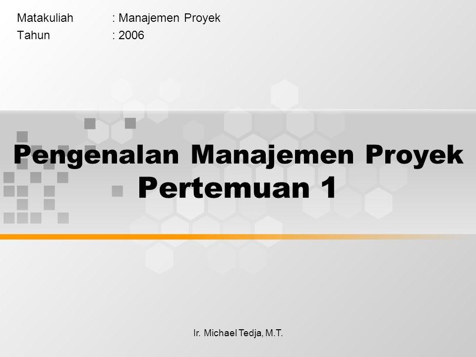Pengenalan Manajemen Proyek Pertemuan 1