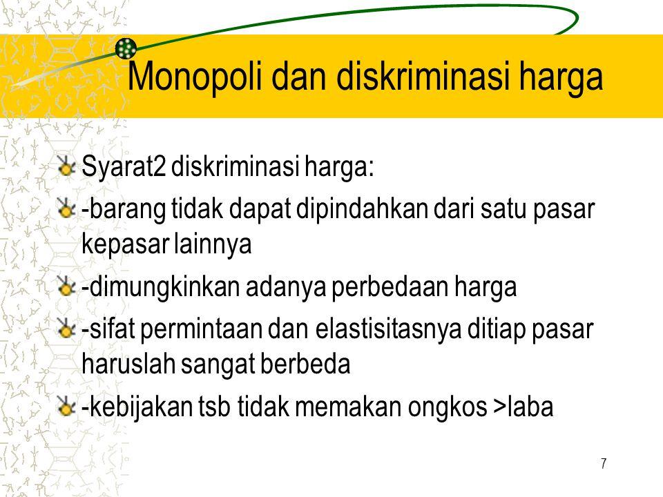 Monopoli dan diskriminasi harga