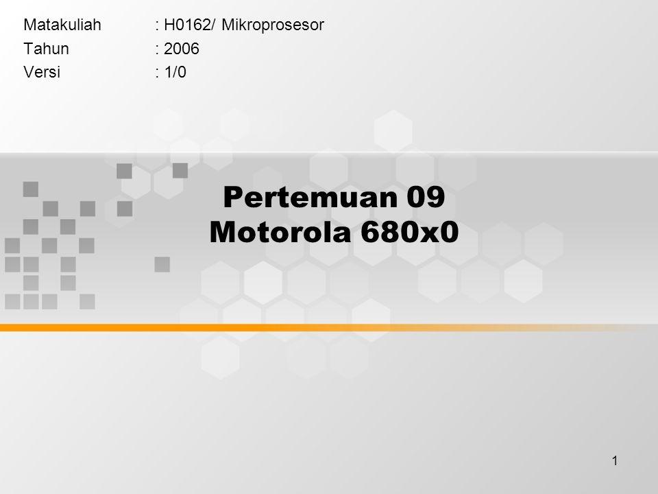 Matakuliah : H0162/ Mikroprosesor Tahun : 2006 Versi : 1/0