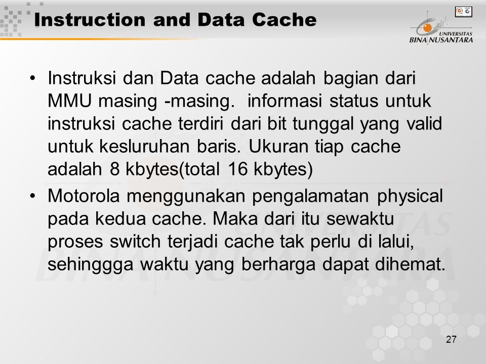 Instruction and Data Cache