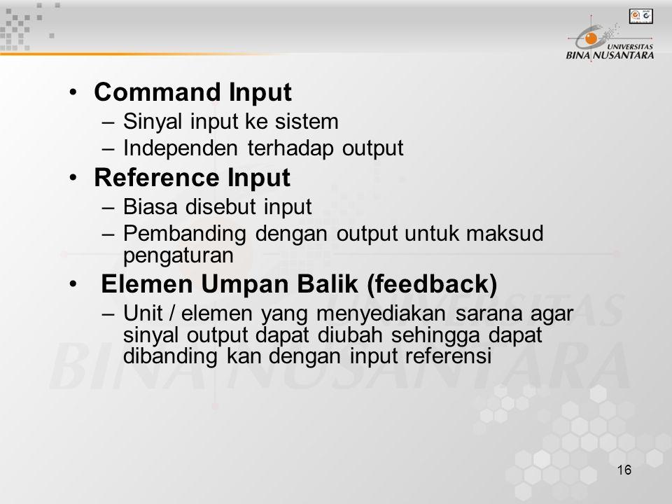 Elemen Umpan Balik (feedback)