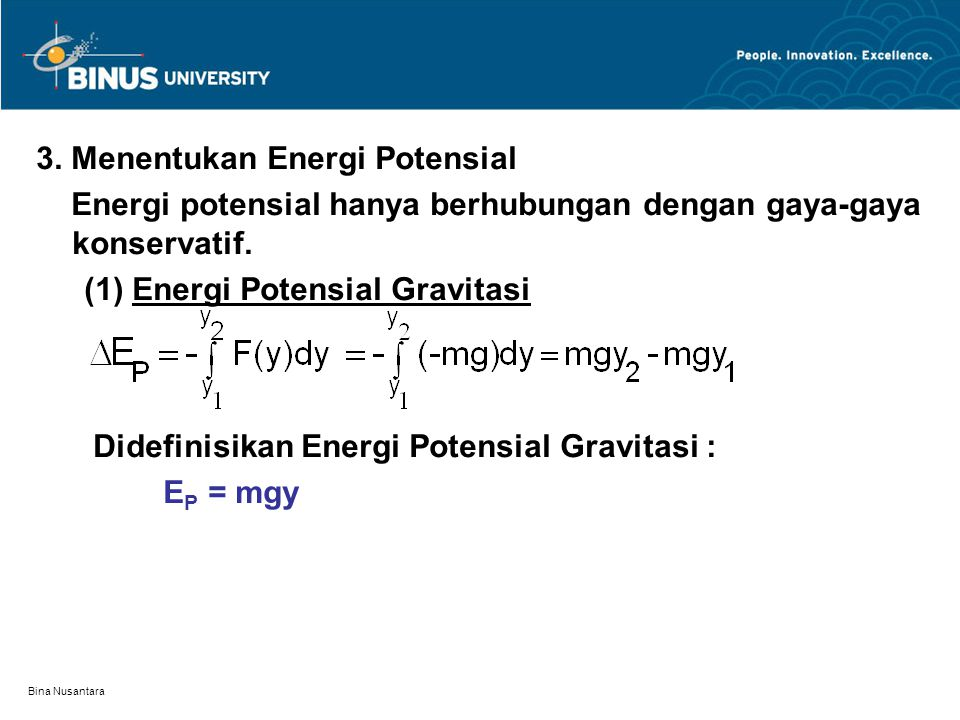 3. Menentukan Energi Potensial
