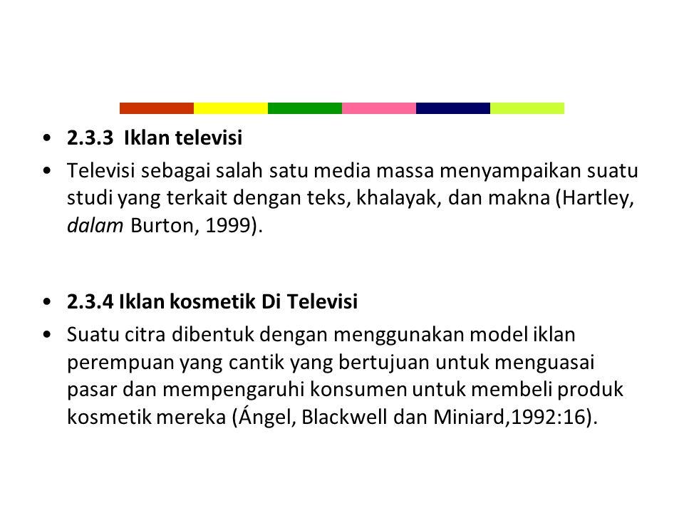 2.3.3 Iklan televisi