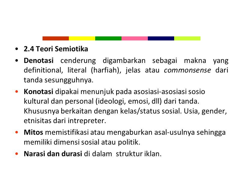 2.4 Teori Semiotika