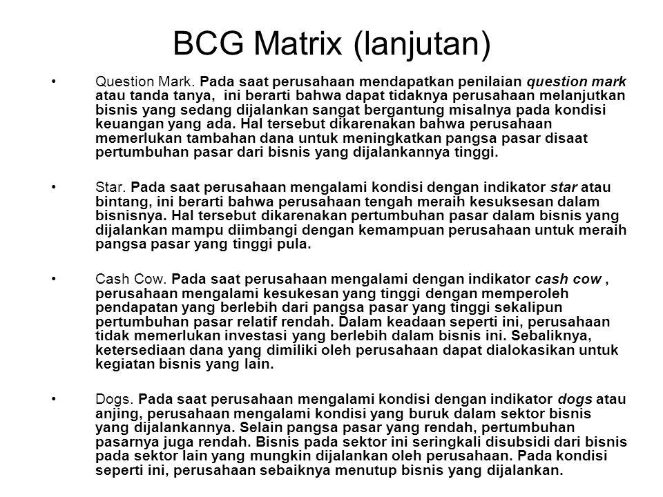 BCG Matrix (lanjutan)