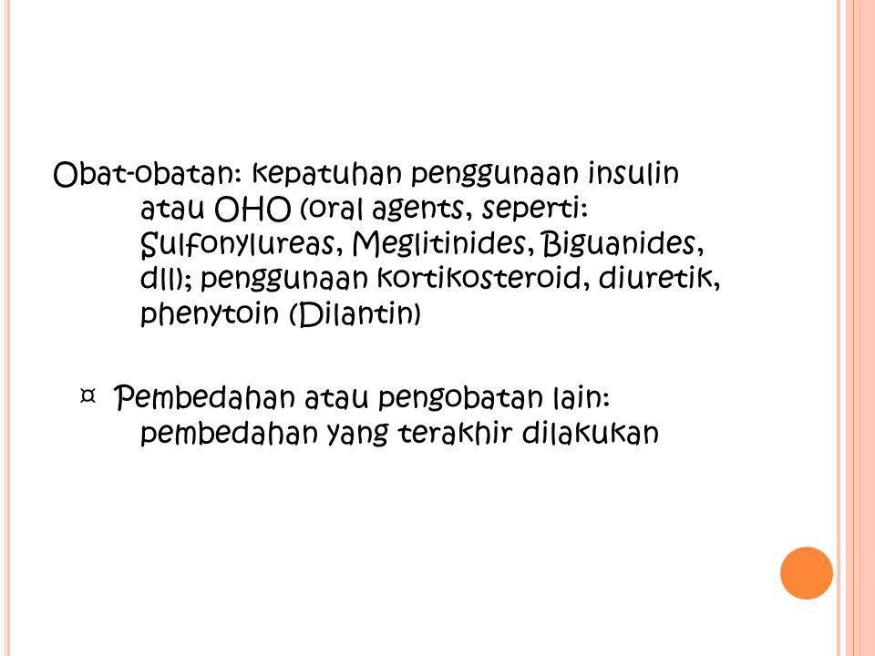 Obat-obatan: kepatuhan penggunaan insulin