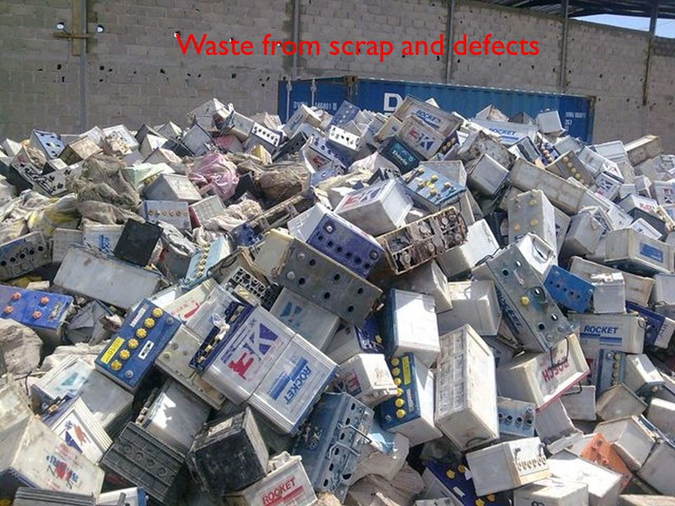 Waste from scrap and defects