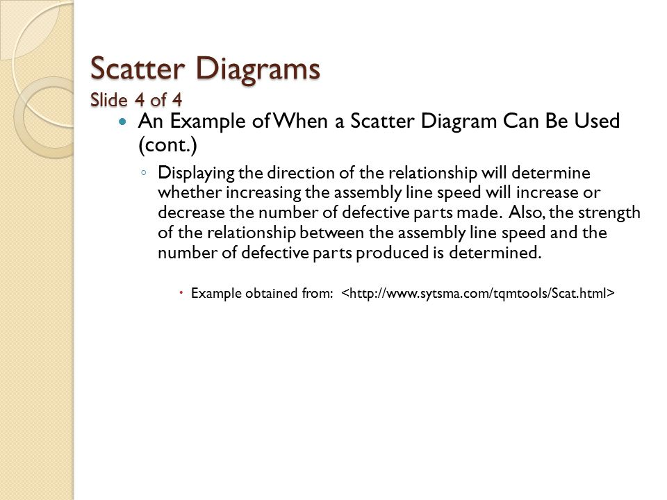 Scatter Diagrams Slide 4 of 4