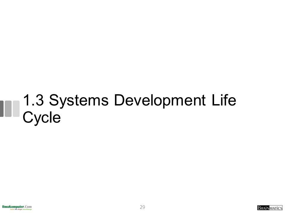 1.3 Systems Development Life Cycle