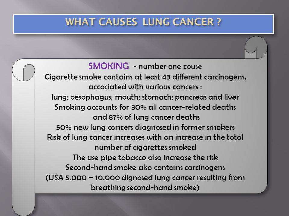 WHAT CAUSES LUNG CANCER