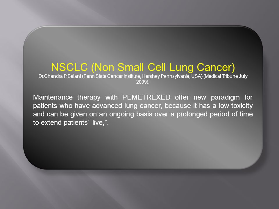NSCLC (Non Small Cell Lung Cancer)