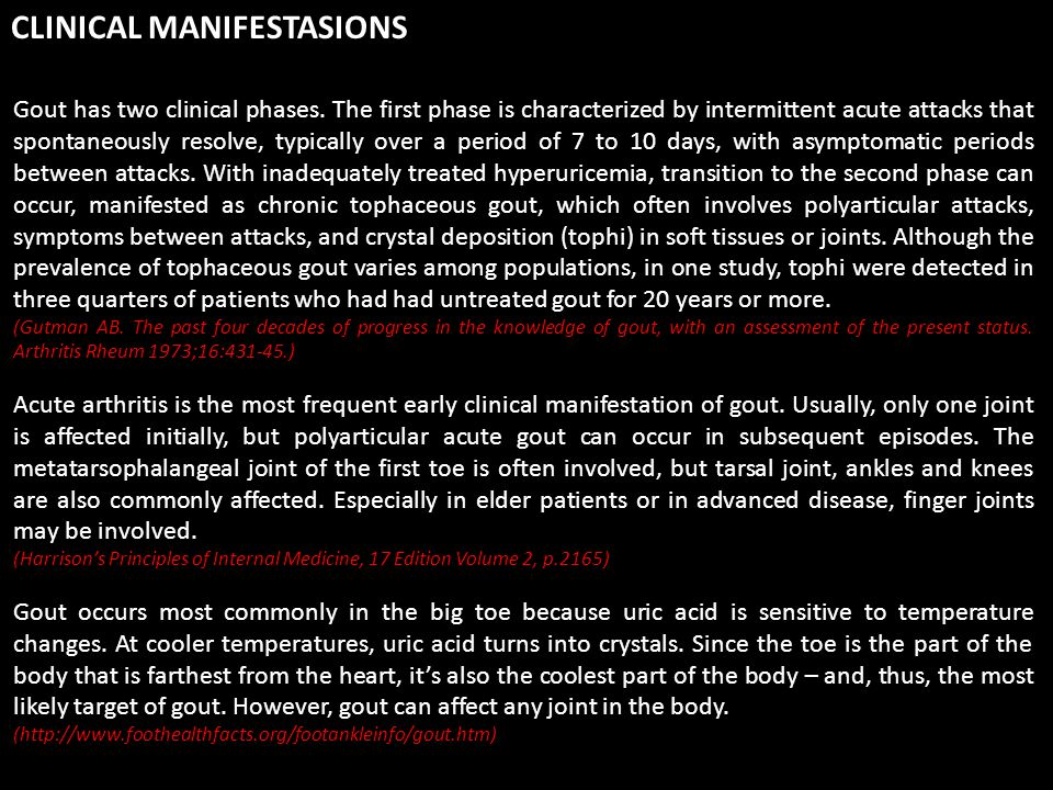 CLINICAL MANIFESTASIONS