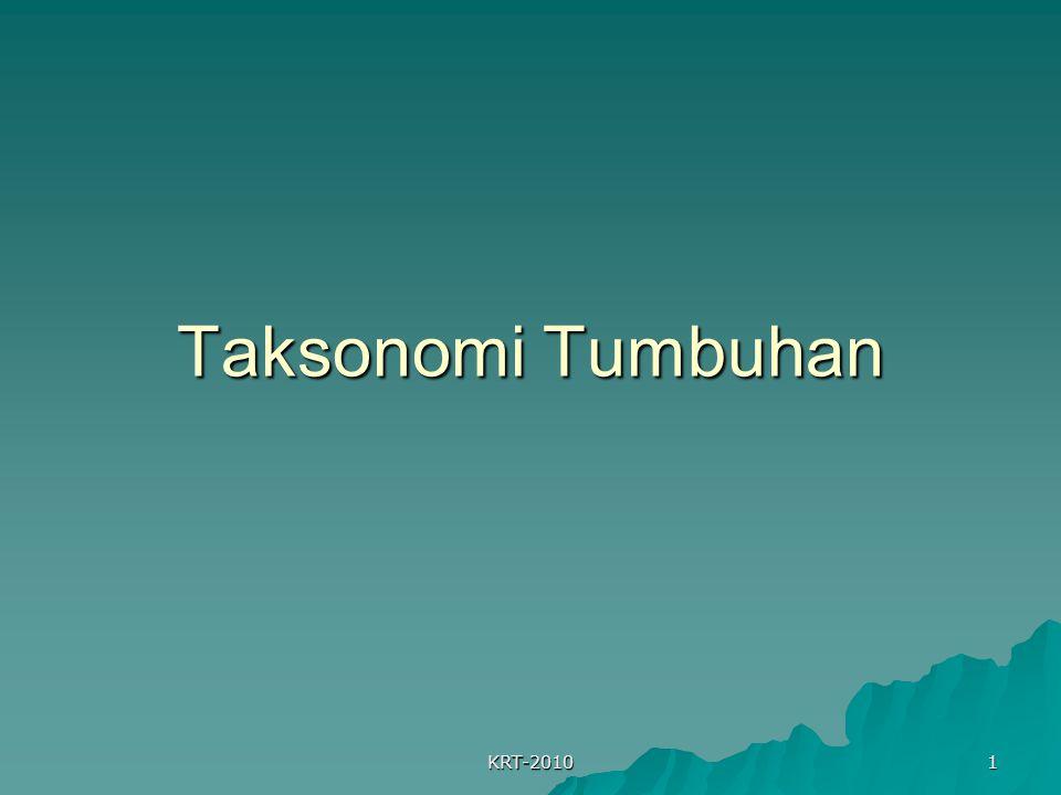 Taksonomi Tumbuhan KRT-2010