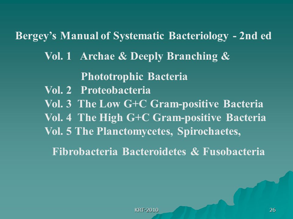 Bergey's Manual of Systematic Bacteriology - 2nd ed