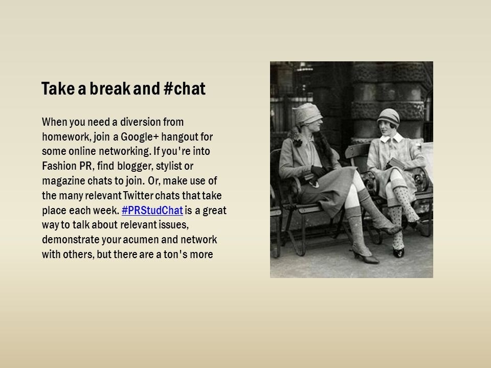 Take a break and #chat