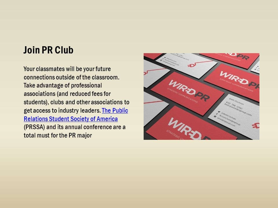 Join PR Club