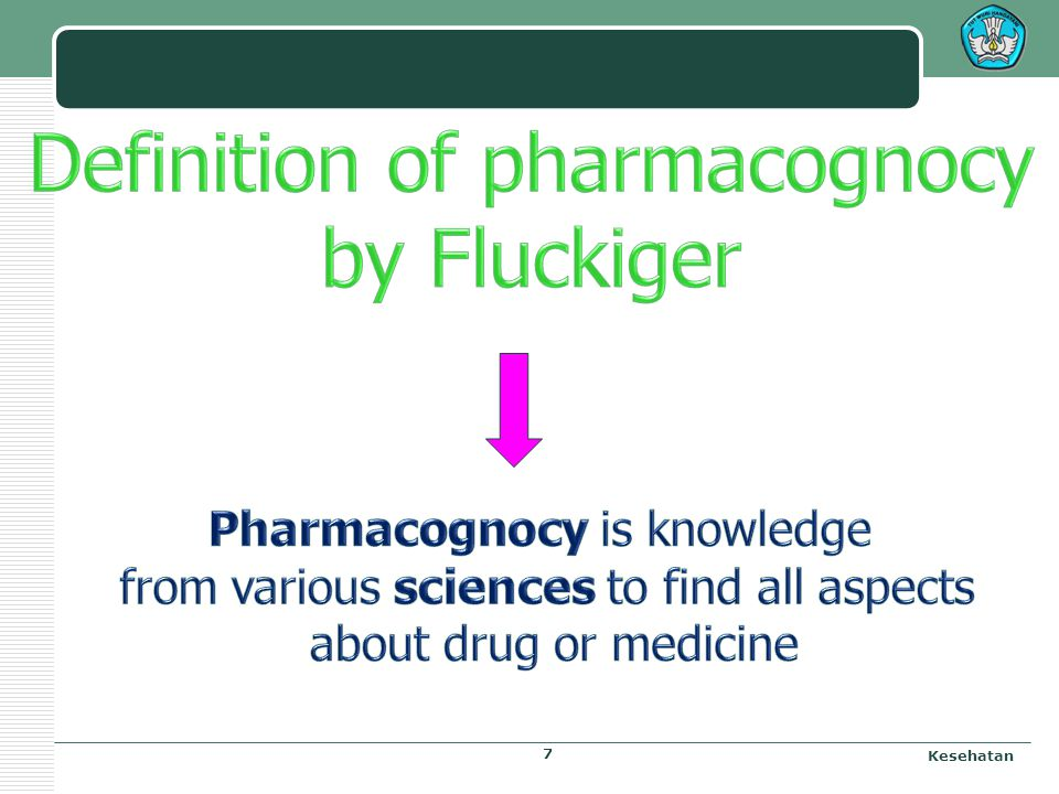 Definition of pharmacognocy by Fluckiger
