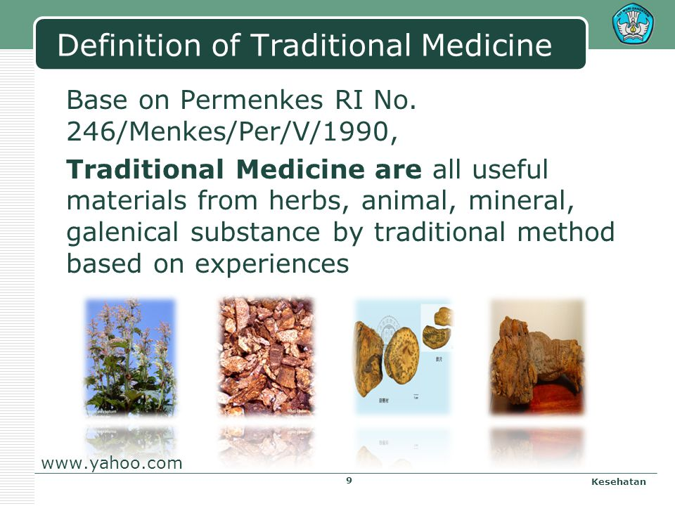 Definition of Traditional Medicine